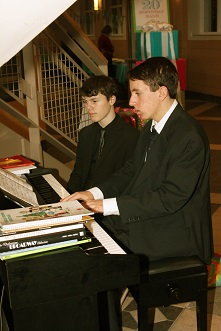 Belmont students at the piano