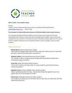 thumbnail of 2016OutstandingTeacherPressRelease